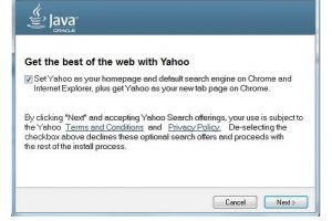 JavaアップデートでAsk with Yahoo!がOracleに変わります。