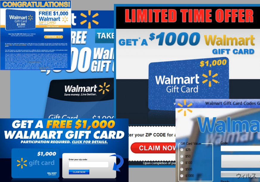 $1000 Walmart Gift Card Winner 広告