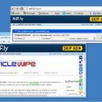 Adf.ly ウィルスのスクリーンキャプチャ