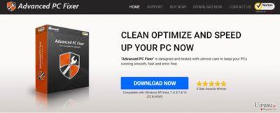 Advanced PC Fixer ウィルスのスクリーンショット