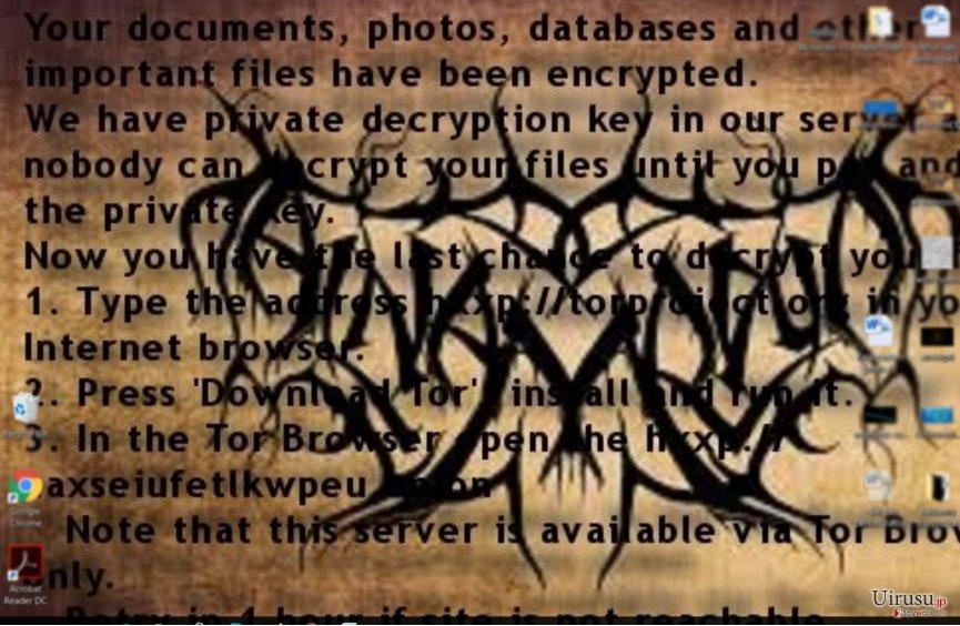 AI-Namrood ランサムウェアの身代金メモ