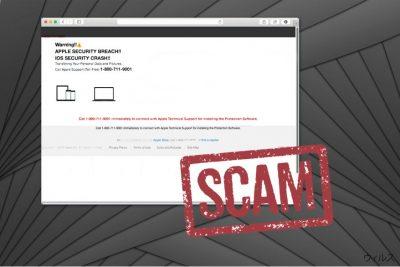 APPLE SECURITY BREACH 詐欺のイメージ