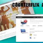 Counterflix 広告のスクリーンキャプチャ