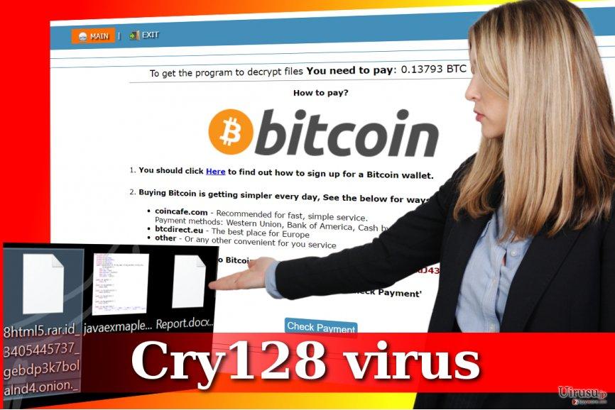 Cry128 ランサムウェアの攻撃