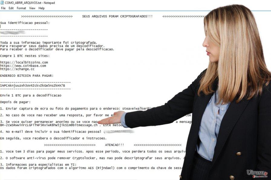 Cryptolocker Portuguese ランサムウェア