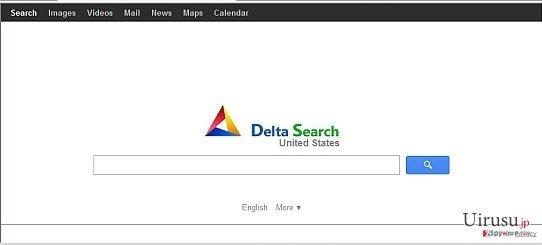 Delta-search.comリダイレクトのスクリーンキャプチャ