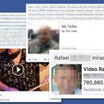 Facebook video ウィルスのスクリーンキャプチャ