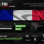 FBI Cybercrime Division ウイルスのスクリーンキャプチャ