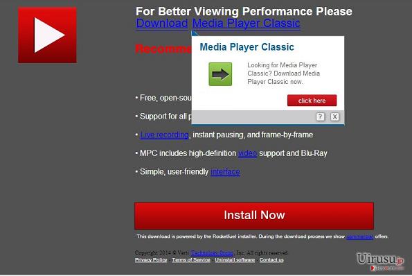 Downloadju.com pop-up virusのスクリーンキャプチャ