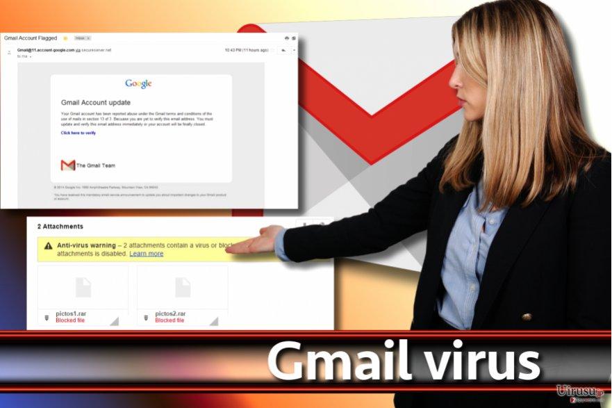 Gmail ウィルスのスクリーンショット