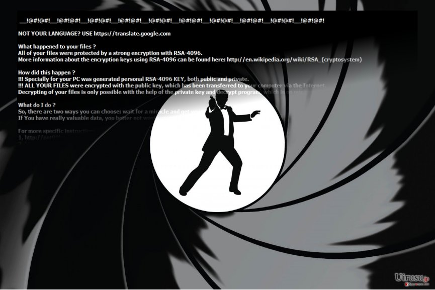 The image of Goldeneye ransomware