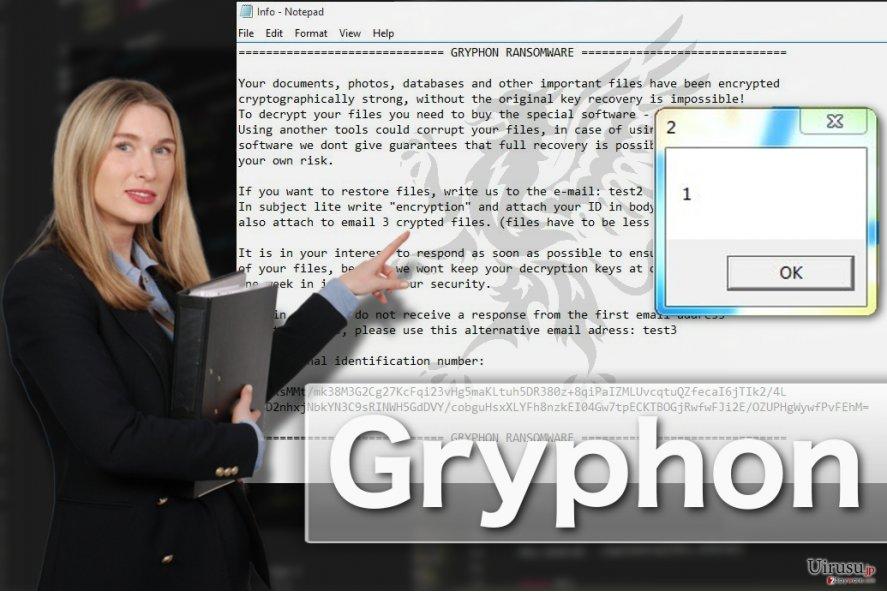 Gryphon ランサムウェア・ウィルスのイラスト