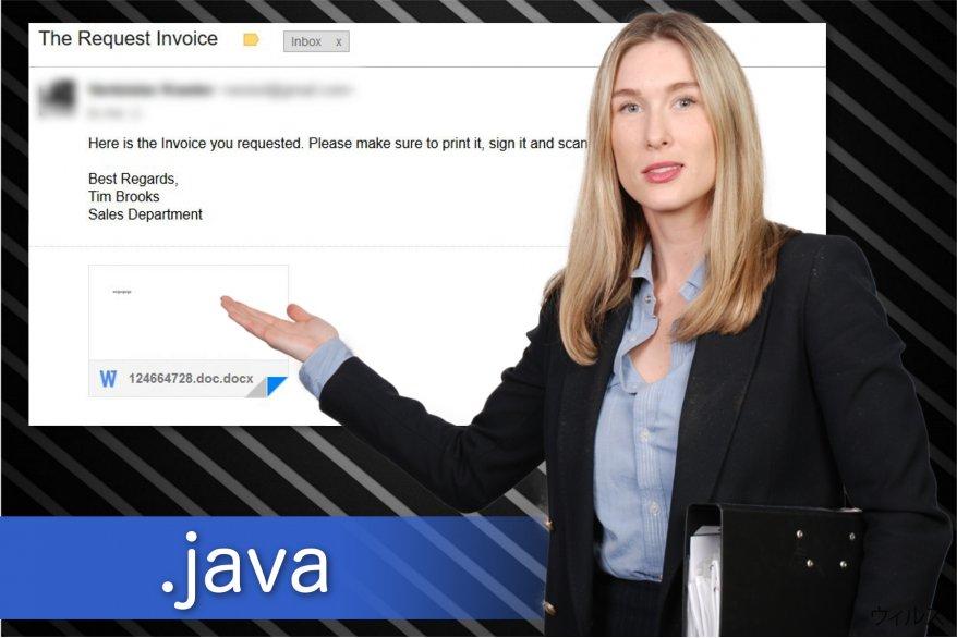 .java ファイル拡張子ランサムウェアのイラスト