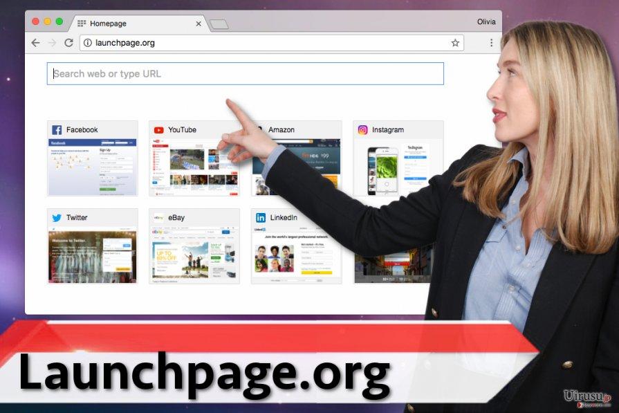 Launchpage.org ウィルス