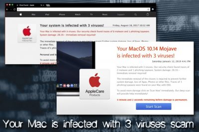 Mac ウィルス - Your Mac is infected with 3 viruses