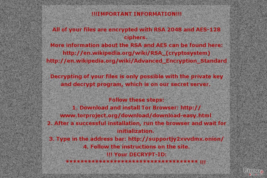 The ransom note by Mole02 ransomware virus