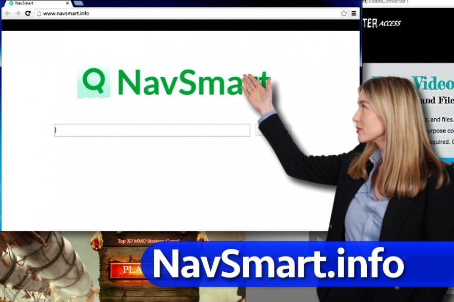 NavSmart.info ウィルスのスクリーンキャプチャ