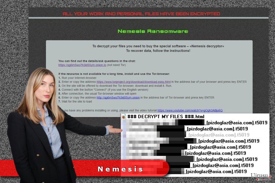 Nemesis ランサムウェア・ウィルスの例