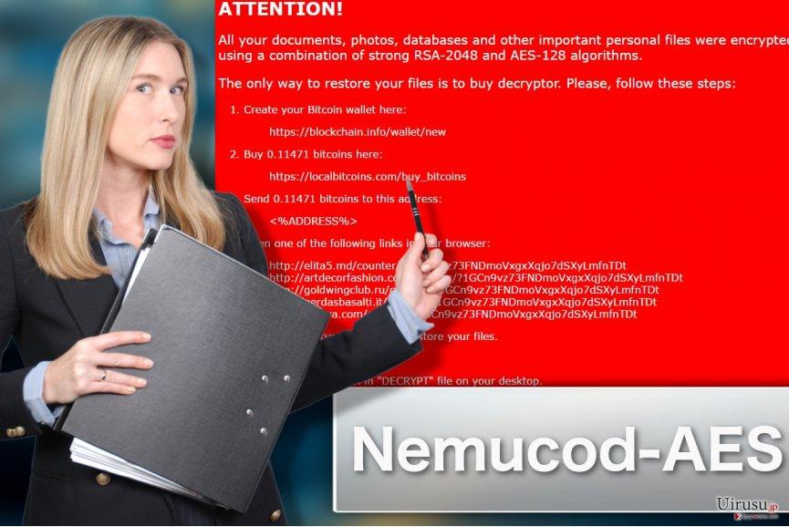 Nemucod-AES ランサムウェア・ウィルスのイラスト