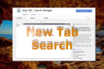 Chrome ウェブストア上の New Tab Search を示すイメージ