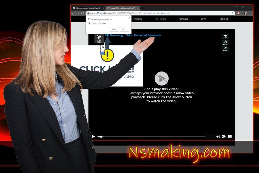 Nsmaking.com プッシュ通知ウィルス