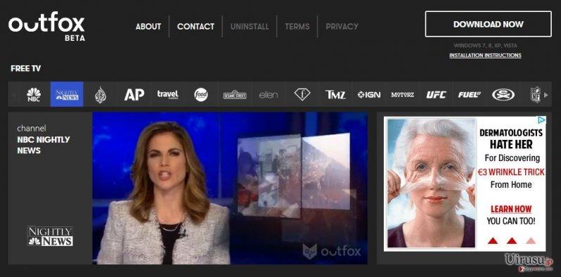 Outfox TVのスクリーンキャプチャ