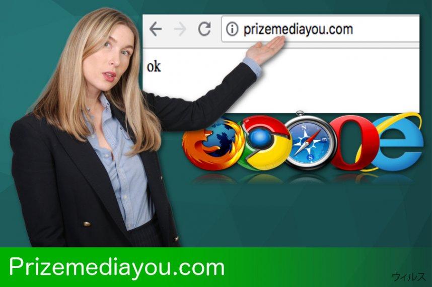 Prizemediayou.com のリダイレクト