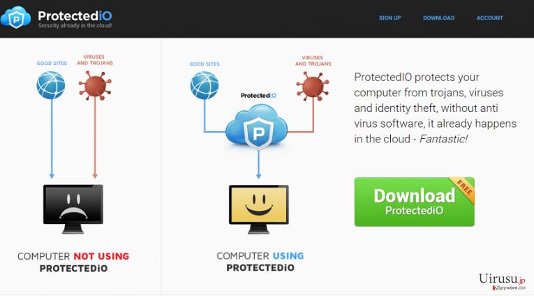 Search.protectedio.comのスクリーンキャプチャ