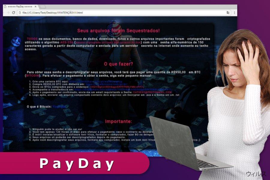 PayDay ランサムウェア・ウィルスのイラスト