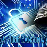 RSA-4096 ランサムウェアのスクリーンキャプチャ