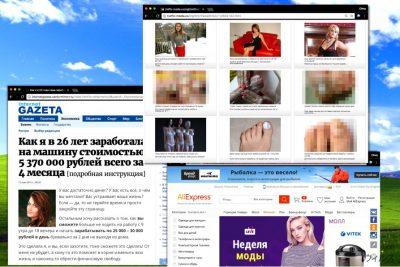 Russian ポップアップ広告