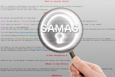 拡大鏡で見る Samas ランサムウェア