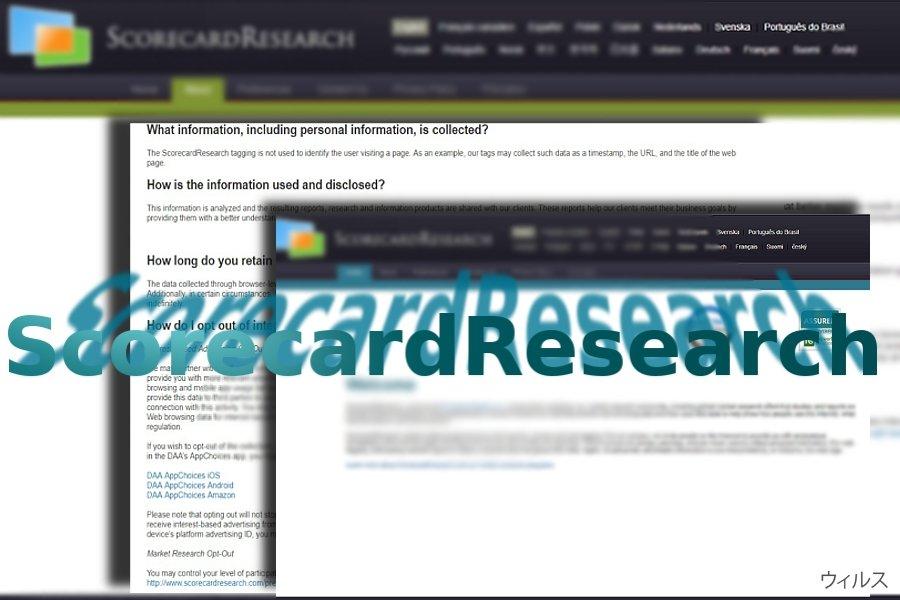 ScorecardResearch.comのスクリーンキャプチャ