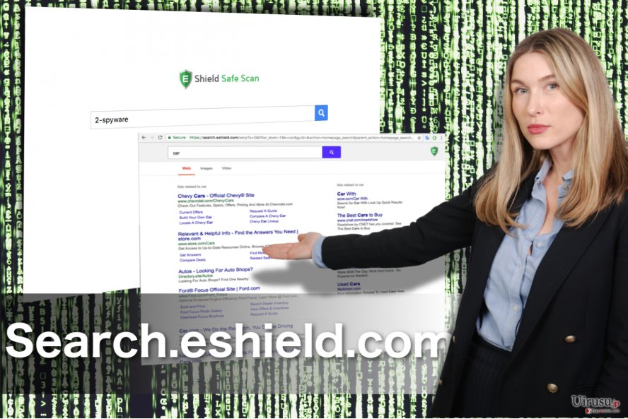 Search.eshield.com リダイレクトのスクリーンキャプチャ