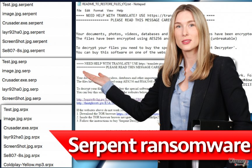 Serpent ransomware virus