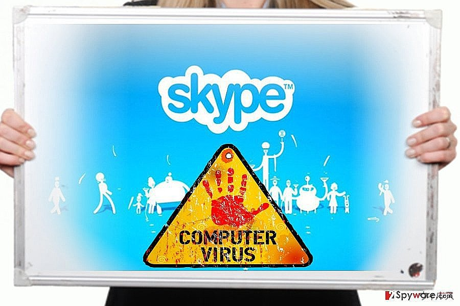The image of Skype virus