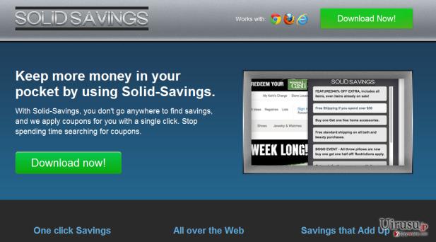 Solid Savingsのスクリーンキャプチャ