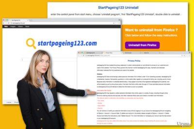 StartPageing123.com ウィルスの図