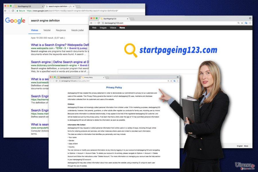 StartPageing123 ウィルスのイメージ