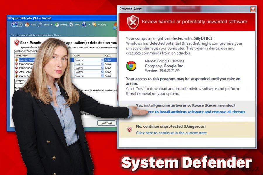 System Defender ウィルス