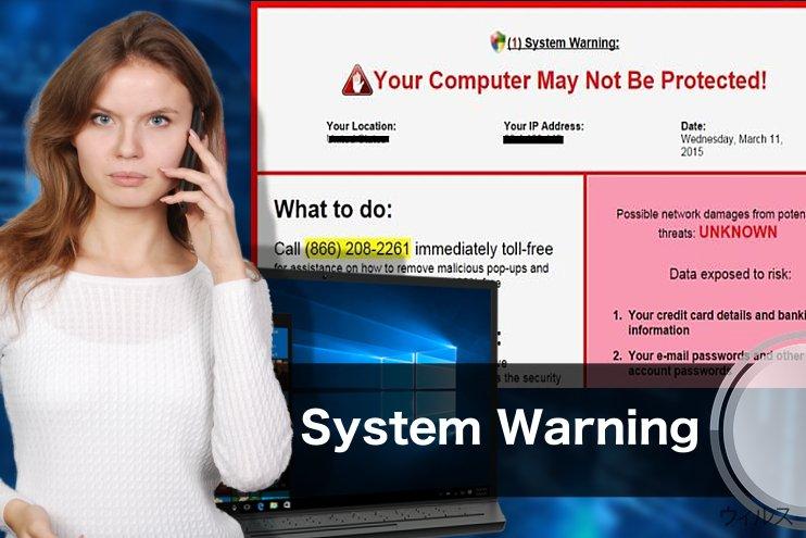 """""""System Warning"""" Pop up"""