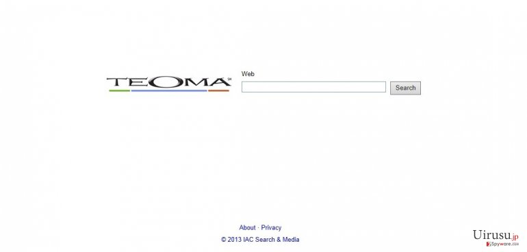 Teoma Web Searchのスクリーンキャプチャ