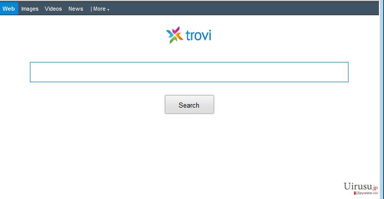 Trovi.comのリダイレクトのスクリーンキャプチャ