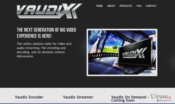 Vaudix ウィルスのスクリーンキャプチャ