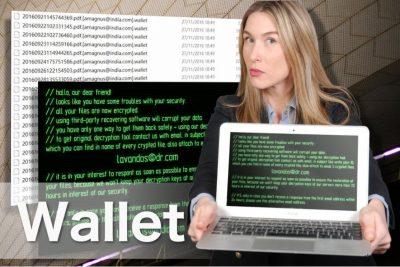 Wallet ランサムウェアのイメージ