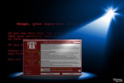 WannaCry 3.0 が現れたことを示す写真