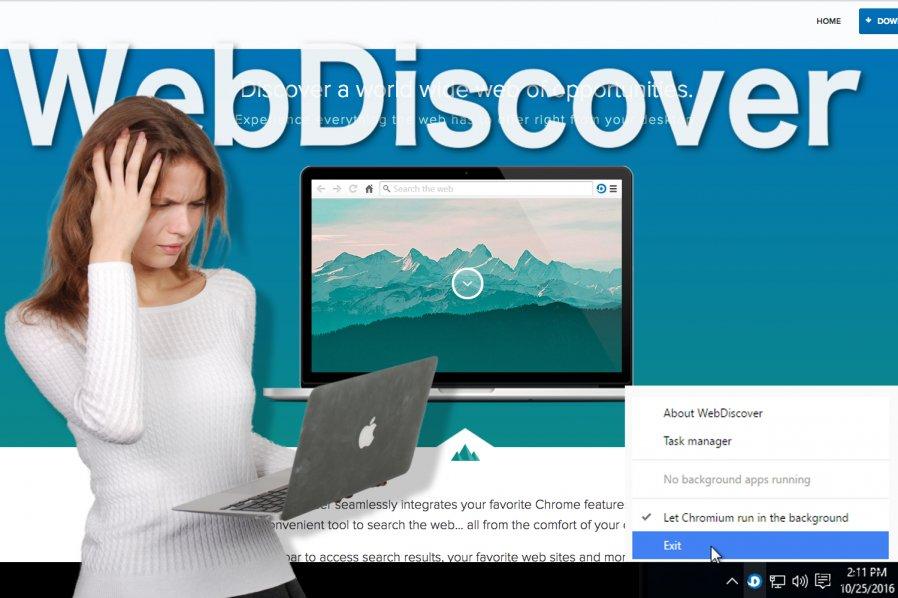 WebDiscover ブラウザのイメージ
