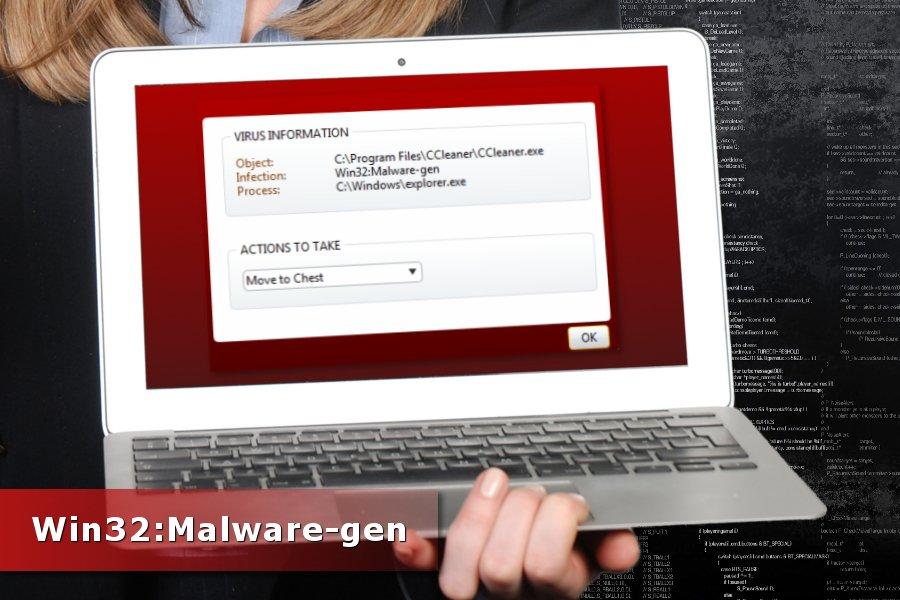 Win32:Malware-gen の検出