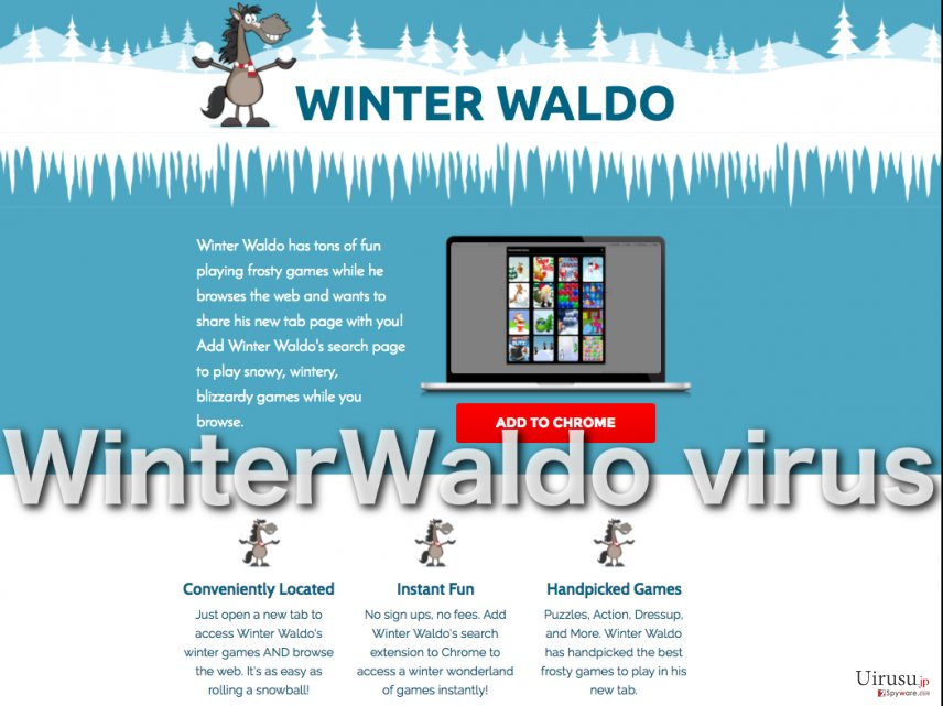 Screenshot of the WinterWaldo adware