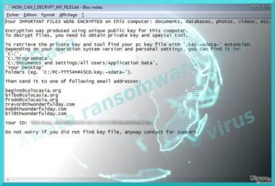XData ウィルスを示すイメージ